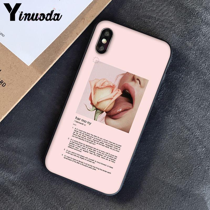 Yinuoda, розовый, эстетический, песни, лирика, эстетический, мягкий силиконовый чехол для телефона, чехол для iPhone 8, 7, 6, 6 S, 6 Plus, X, XS, MAX, 5, 5S, SE, XR, 10
