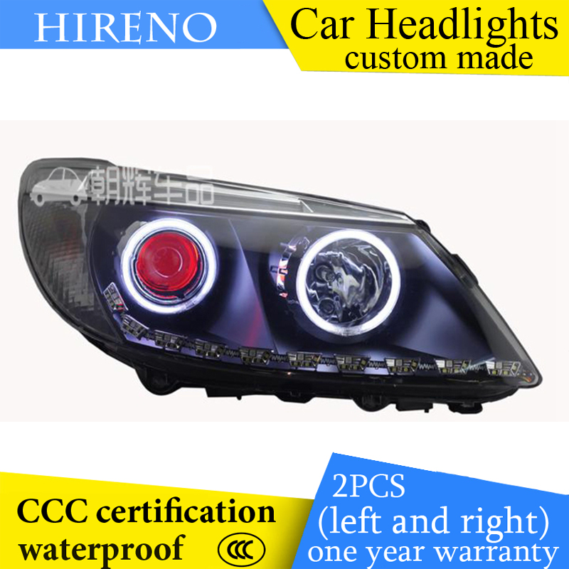 Hireno custom Modified Headlamp for BYD S6 Headlight Assembly Car styling Angel Lens Beam HID Xenon 2 pcs hireno headlamp for cadillac xt5 2016 2018 headlight headlight assembly led drl angel lens double beam hid xenon 2pcs