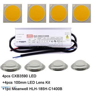 Image 1 - كري CXB3590 LED النبات تنمو ضوء 3000K 3500K 5000K 80 CRI 36V COB LED صفيف مع عدسة و ميانويل سائق لتقوم بها بنفسك وحدة