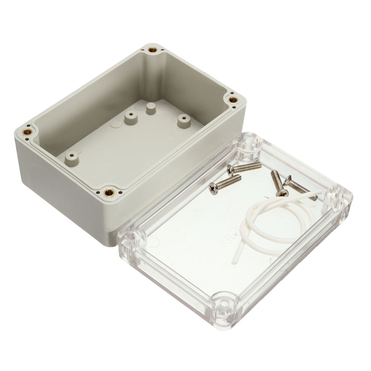 100x68x50mm Plastic Waterproof Electrical Junction Case Transparent Cover Enclosure Case Waterproof Plastic Electronic Box New white waterproof plastic enclosure box electric power junction case 158mmx90mmx46mm with 6pcs screws