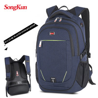 Songkun New Brand Backpack Multifunctional Women Backpack School Bag For 15 6 Laptop Waterproof Solid Travel