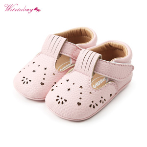 WEIXINBUY Baby Moccasins Hollow Flower Princess Baby Shoes Pu Leather Newborn Infant Shoes For Spring Girls Dress