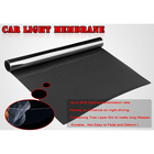 "15*47"" new Gloss Dark Black Membrane Headlight Taillight Fog Light Automatic lamp Vinyl Film"