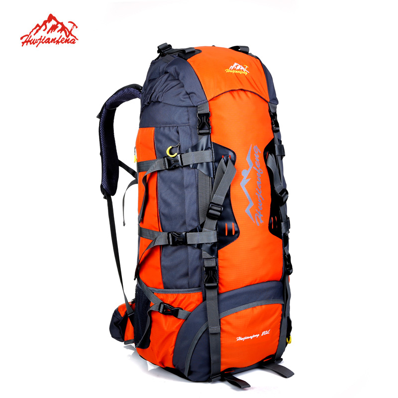 80L Large Capacity Outdoor backpack Camping Travel Bag Professional Hiking Backpack Unisex Rucksacks sports bag Climbing package mountec large outdoor backpack travel multi purpose climbing backpacks hiking big capacity rucksacks sports bag 80l 36 20 80cm