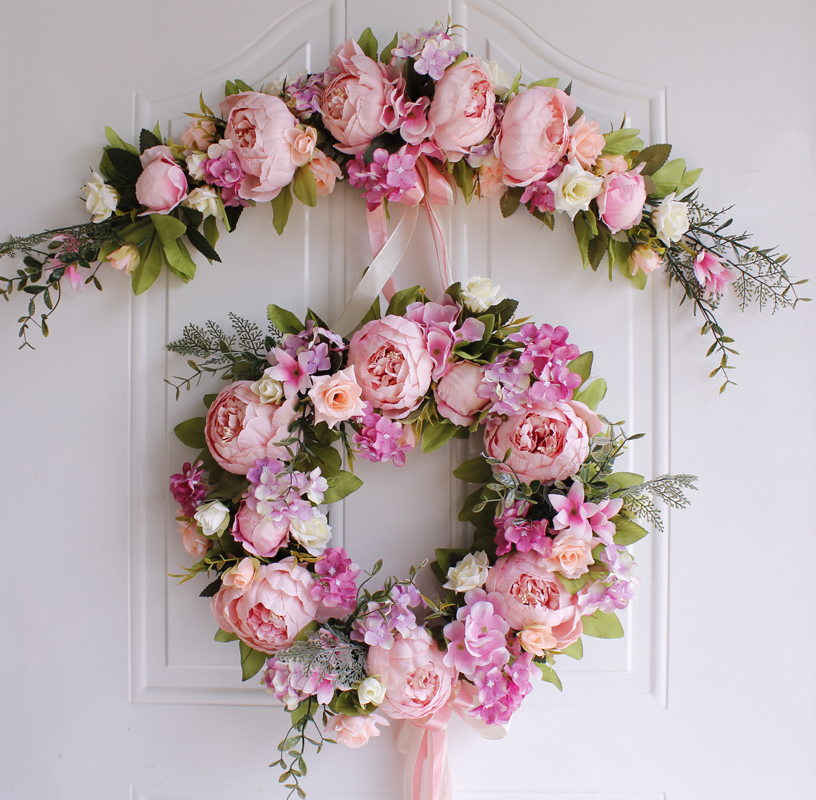 Artificial Garland Flowers Door Lintel Flower Wedding Door Trim Hanging Home Decoration Ornaments Mirror Wreath Party SuppliesArtificial Garland Flowers Door Lintel Flower Wedding Door Trim Hanging Home Decoration Ornaments Mirror Wreath Party Supplies