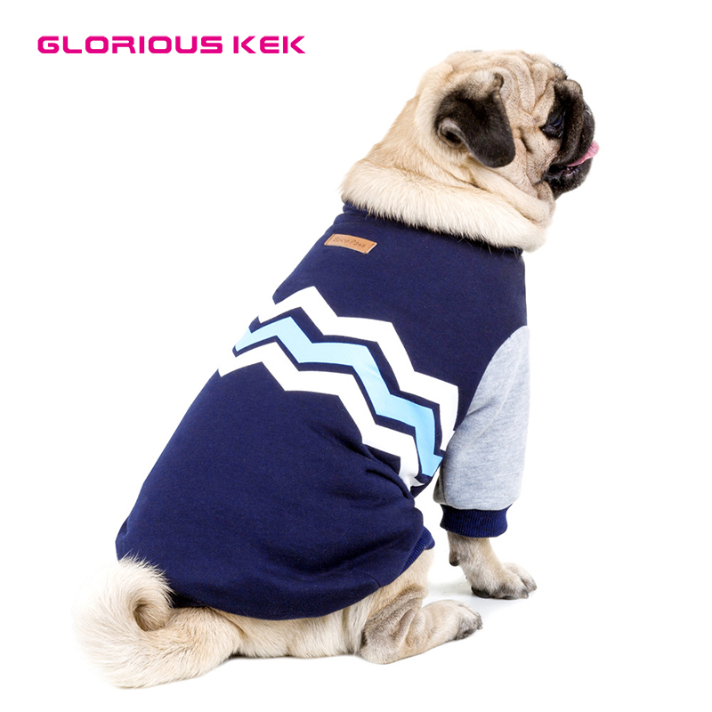 GLORIOUS KEK Dog Hoodies for Small Medium Large Dogs Pet Clothes Autumn/Winter Fashion Wave Design Pet Dog Coat Sweatshirt S-5XL