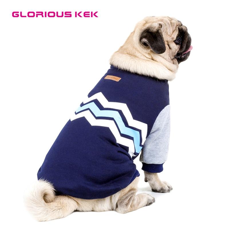 GLORIOUS KEK Dog Hoodies for Small Medium Large Dogs Pet Clothes Autumn/Winter Fashion Wave Design Pet Dog Coat Sweatshirt S-5XL