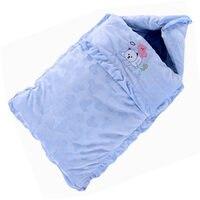 Velvet Warm Baby Sleeping Bag Winter Envelopes For Newborns Cotton Baby Blankets Swaddle Oversized Baby Sleep Sacks For 0~6M