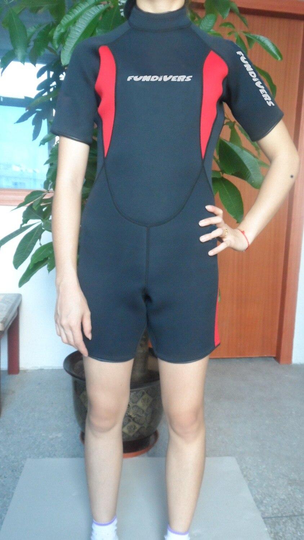 3MM Scuba Lycra Wetsuit Equipment Neoprene Snorkeling Jumpsuit One piece Short Sleeved Triathlon Spearfishing Surfing DivingSuit