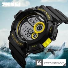 SKMEI Sport Watches Men Fashion 50M Waterproof Watch Casual LED Colour Black Light Shock Resistant Digital Wristwatches 1222