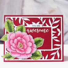 GJCrafts Flower Stamp and Die Sets Cutting Dies New 2019 for Scrapbooking Card Making Album Embossing Crafts Dies Stamp Sets(China)