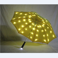 Novel Stage Properties Flashing Starry Night Umbrella Safety Warning Protection Umbrellas for Kids Birthday Gift