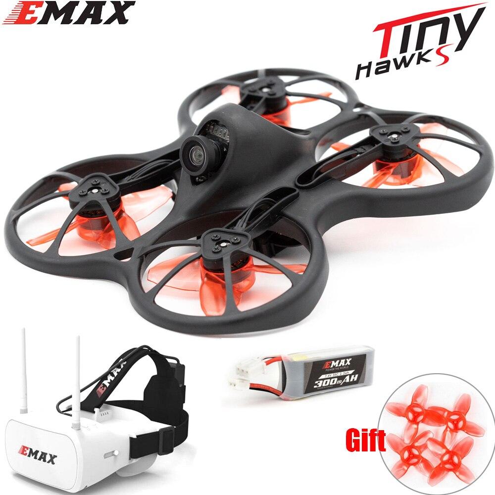 Квадрокоптер Emax 2S Tinyhawk S Mini FPV Racing с камерой 0802 15500KV, бесщеточный мотор с поддержкой батареи 1/2S, 5,8G FPV очки, радиоуправляемый самолет