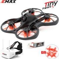 Emax-Mini Dron de carreras con visión en primera persona, con cámara 0802, 15500KV, Motor sin escobillas, batería de 1/2S, gafas FPV de 5,8G, avión