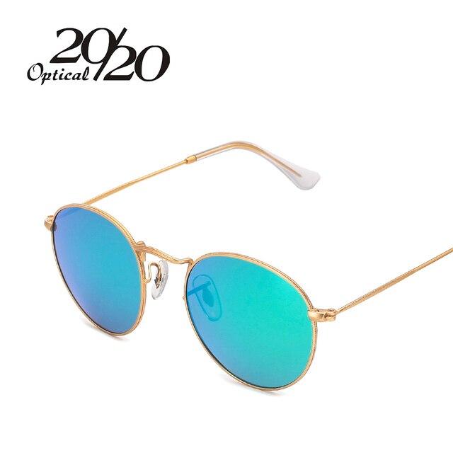 20/20 Brand Designer Women Round Sunglasses Men Fashion Polarized Metal Frame Sun Glasses Shade Gafas OculosEyewear