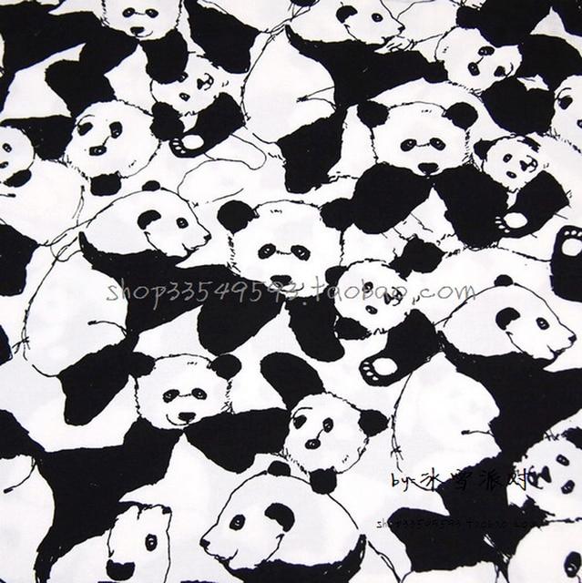 140*50 cm 1 stück schwarz/weiß baumwolle stoff panda stoff telas ...