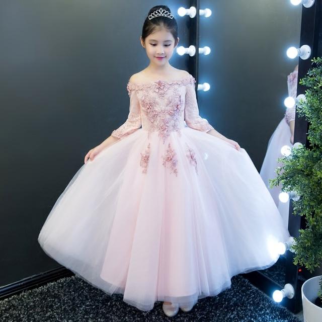 d4253e206 New Autumn Hot sales Children Girls Luxury Wedding Birthday Party ...