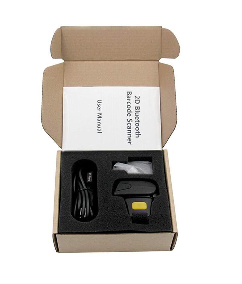 RZ R2 Портативный носимый 2D Bluetooth Кольцо Сканер Штрих-Кода Сканирования QR Code Reader Штрих-Кода