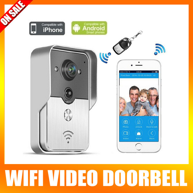 Wifi Video Door Phone Door Bell Intercom Systems Support Unlock Record Take Photo (App Can Be Run In Android And IOS Devices)