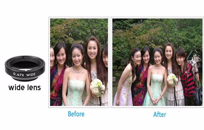Newest Mobile Phone Camera Lens Kits Fisheye lense Wide Angle Macro Lens 12X Zoom Camera Telephoto Lens For iPhone Samsung LG 21