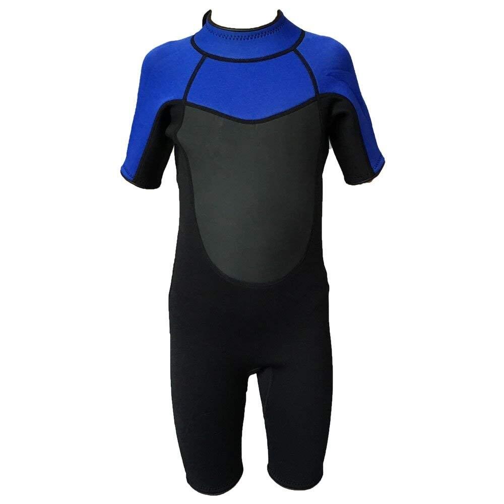 Realon combinaison Shorty 3mm enfants manches courtes maillot de bain pour garçons/filles dos Zip natation surf plongée en apnée plongée hiver combinaison humide