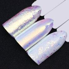 BORN PRETTY Chameleon Unicorn Neon Nail Glitter Mirror Iridescent Nail Sequins Chrome Nail Art Pigment Powder UV Gel Polish