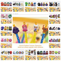 100PCS Star Wars Legos Ponies Minions Adventure Time Cartoon Pen Topper Pen Pencil Accessories Cap Thor Fashion Jewelry Gifts