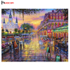 Hot Sale DIY 5D Diamond Embroidery Scenic Needlework Cross Stitch Resin Full Square Diamond Painting City