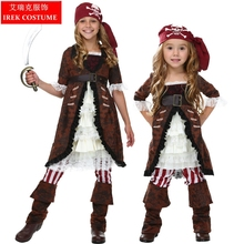 IREK New Girl's  Halloween Costume Pirates of the Caribbean Cosplay Costume Children's Day Theater Performance clothing