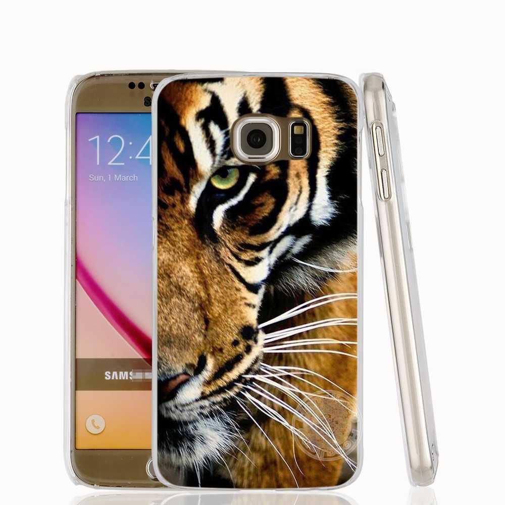 HAMEINUO 素敵な強力なライオン虎動物携帯電話ケース三星銀河 S7 エッジプラス S8 S6 S5 S4 s3 ミニ