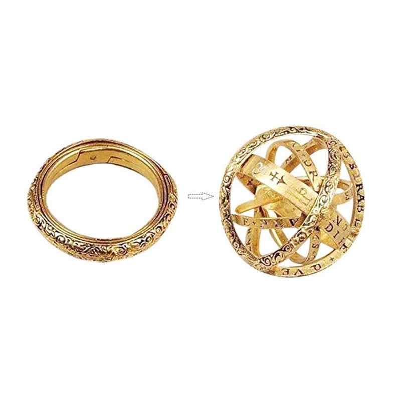 ดาราศาสตร์ Sphere Ball แหวน COSMIC นิ้วมือแหวนคู่เครื่องประดับของขวัญ