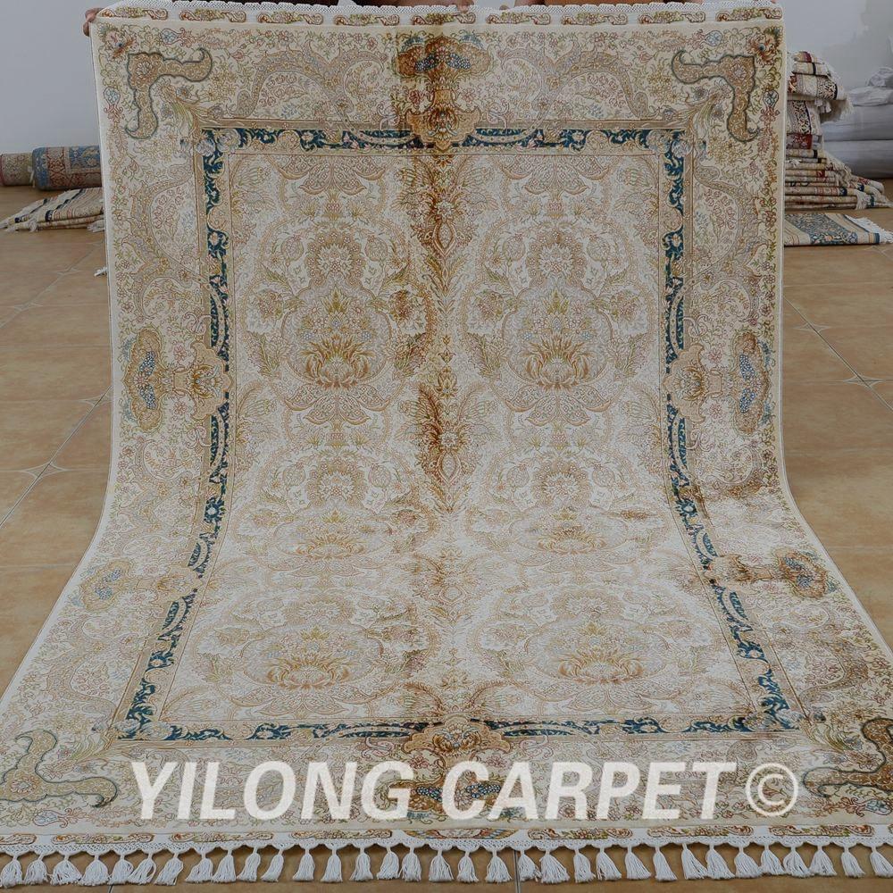 5 X 6 Vintage Kazak Persian Oriental Wool Hand Knotted: Yilong 5.6'x8.3' Antique Hand Made Persian Tabriz Carpet