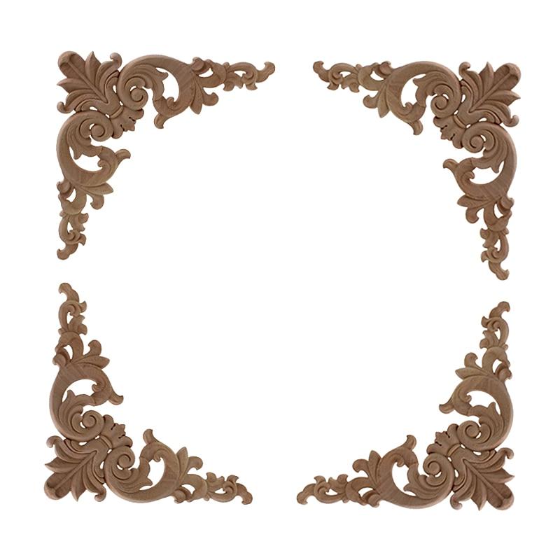 Деревянные резные аппликации VZLX, рамка для плотника, украшение мебели, деревянные поделки, декоративное цветочное украшение