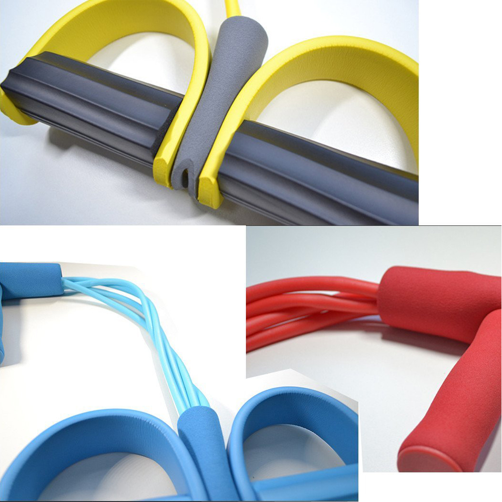 ALI shop ...  ... 32956264694 ... 4 ... Fitness Gum 4 Tube Resistance Bands Latex Pedal Exerciser Sit-up Pull Rope Expander Elastic Bands Yoga equipment Pilates Workout ...