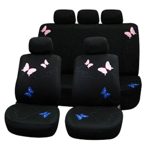 WeSheU New Arrival 2018 Butterfly Car Seat Cover Universal Fit For peugeot 206 renault logan Car Seat Cover Set
