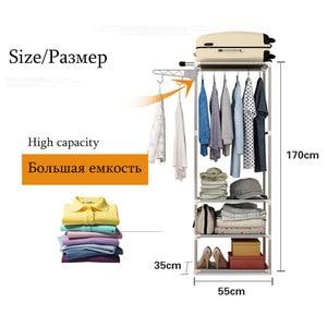 Image 5 - Simple Coat Rack Floor Clothes Storage Hanging Hangers Rack Creative Clothing Shelf DIY Assembly Coat Rack Bedroom Furniture