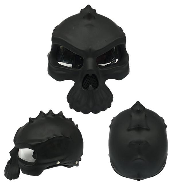 Cráneo de La Motocicleta Novedad Retro Casco de Moto Casco Capacetes casco Medio Casco de La Cara