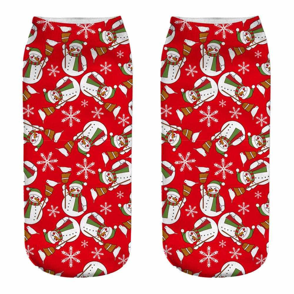 Novas meias de Natal moda Unissex 3D impresso arte engraçada bonito calcetines mujer skarpetki damskie chaussette femme sokken meias # V