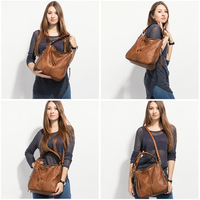 REALER women handbags female Crossbody shoulder bags high quality PU leather messenger bags for ladies big Totes large capacity 1