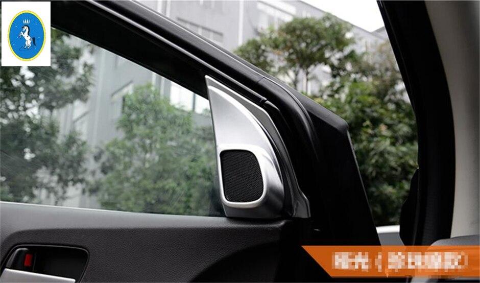 2PCS ABS Chrome Interior Door Speaker Trim Strip For Cadillac XT5 2016-2018