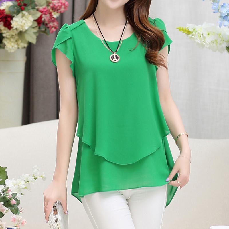 short sleeve chiffon blouse (23)