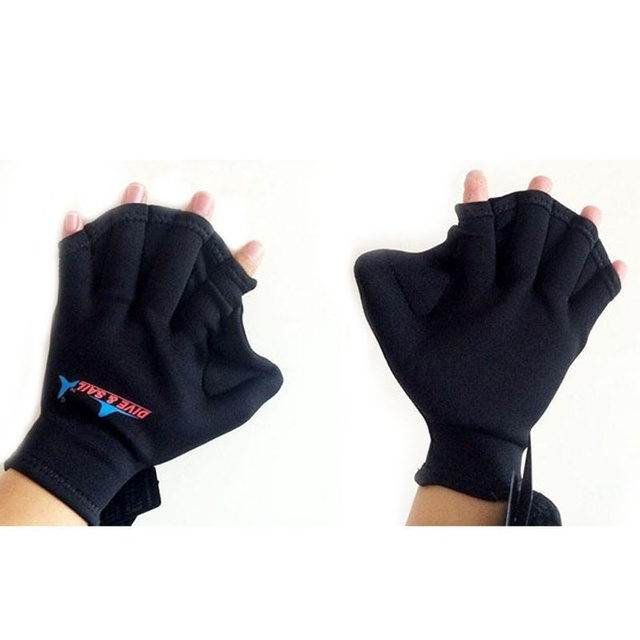 Swimming Webbed Fingerless Gloves