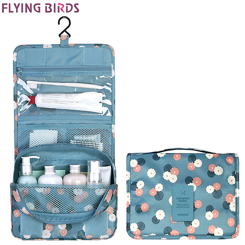 FLYING BIRDS 2017 Women Cosmetic Bags Multifunction Makeup wash bag portable Bag toiletry waterproof Travel Bags Lady LS8904fb new brass square chrome finish waterfall tall countertop basin bathroom sink faucet mixer tap single handle