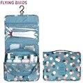 Flying birds 2017 las mujeres bolsas de cosméticos bolsa de lavado de múltiples funciones del maquillaje portátil neceser de viaje impermeable bolsas señora ls8904fb