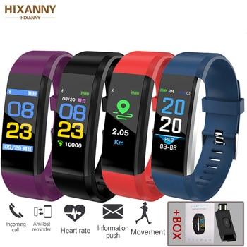 ID115Plus Smart Bracelet Sport Bluetooth Wristband Heart Rate Monitor Watch Activity Fitness Tracker Smart Band