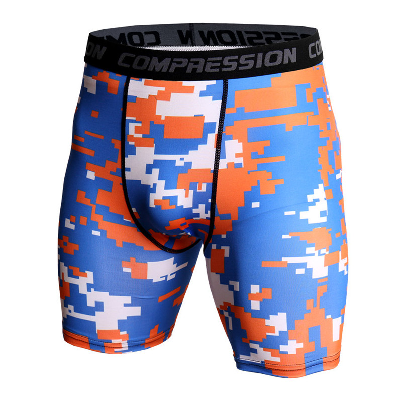 Men Bodybuilding Skinny Shorts Compression Quick Dry Tights Short Pants Male Jogger Gyms Fitness Workout Crossfit Sportswear
