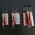 1/4 дюймовый набор торцевых ключей CR-V гаечный ключ с трещоткой для велосипеда мотоцикла инструмент для ремонта автомобилей набор общих розе...