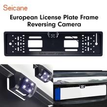 Seicane NUOVO 170 Gradi HD Grandangolare Grande Visione Notturna Impermeabile per Universale Targa Europea Telecamera per la Retromarcia
