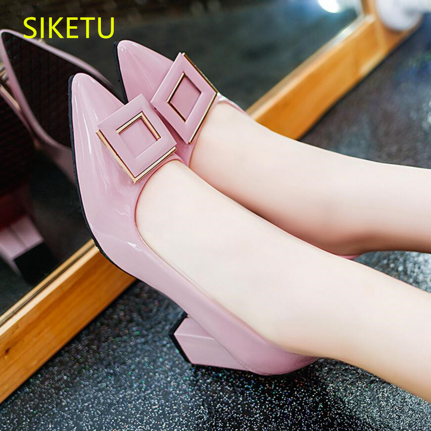 SIKETU 2017 Free shipping Spring and autumn high heels shoes fashion women shoes Wedding shoes The New pumps g065 siketu 2017 free shipping spring and autumn women shoes high heels shoes wedding shoes nightclub sex rhinestones pumps g148