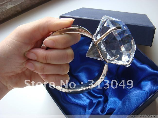 Factory directly sale big crystal ring for wedding decorations and factory directly sale big crystal ring for wedding decorations and the props of propose marriage wedding favors and gifts in party favors from home garden junglespirit Choice Image